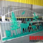 Custom Chrome Powder Coated Gate in Tampa, FL