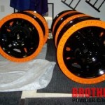 Custom two toned powder coated wheel rims