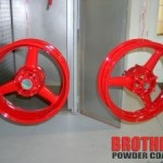 Red Metal Motorcycle Rims